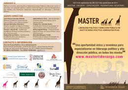 Folleto Master Liderazgo  - Escuela de Negocios, Universidad
