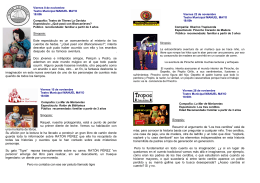 FOLLETO TEATRO INFANTIL FAMILIAR - ayto