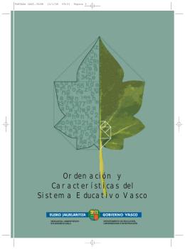 Ordenación y Características del Sistema Educativo Vasco