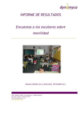 Escuesta Niños Movilidad Sostenible 2013