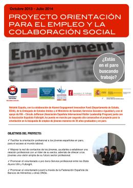 Folleto empleo español 2013