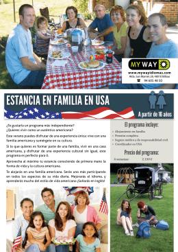 ESTANCIA EN FAMILIA EN USA