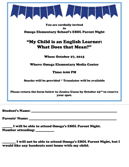 """My Child is an English Learner: What Does that Mean?"""
