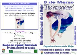 folleto de actividades - Ayuntamiento de Gines