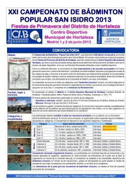 Sistema de competición - Club Bádminton Chamartín