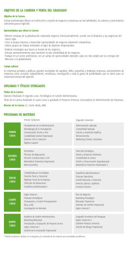 folleto administracion de empresas