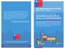 Gratuidad escolar, fin al lucro y a la discriminación