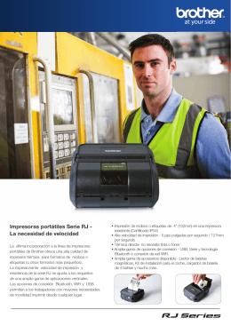 Impresoras portátiles Serie RJ - La necesidad de
