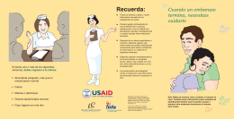 Recuerda: - Postabortion Care