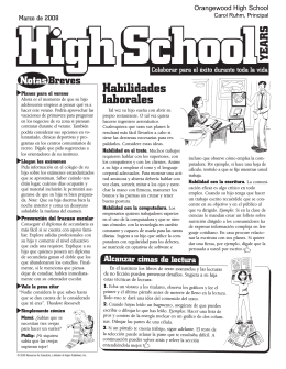 Habilidades laborales - Orangewood High School