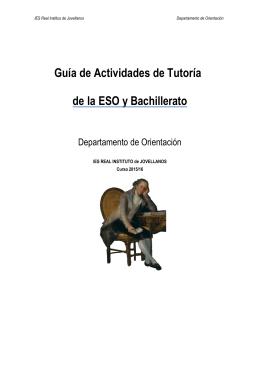 Actividades de Tutoría ESO y Bachillerato 15-16