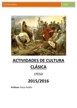 Actividades de Cultura Clásica