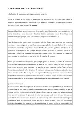 PLAN DE NEGOCIO CENTRO DE FORMACIÓN 1