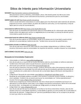 Sitios de interés para información universitaria