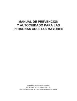 manual de prevención y autocuidado para las personas adultas