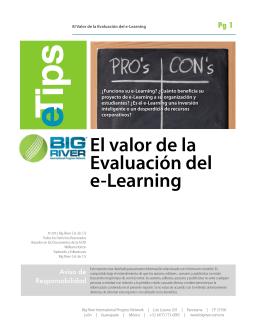01 El valor de la evaciacion del e-Learning