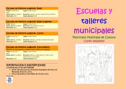 ESCUELAS MUNICIPALES 2013