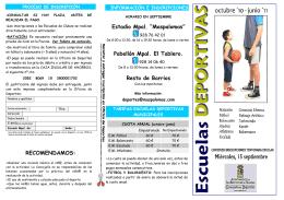 folleto escuelas deportivas 10-11