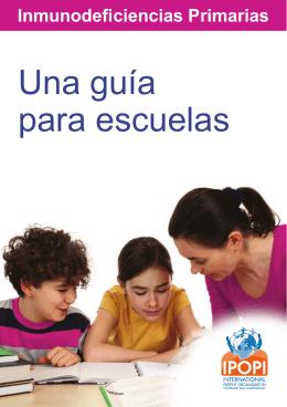 Inmunodeficiencias Primarias: Una guía para escuelas