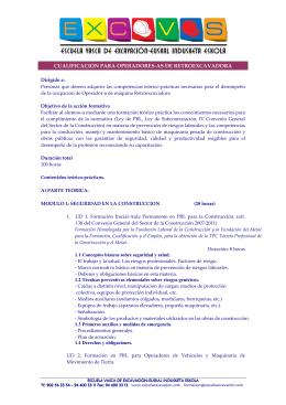 folleto informativo del curso