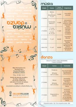 Escuela de Danza - Ayuntamiento de Collado Villalba