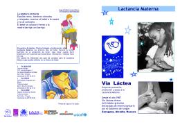 Imagen del folleto de Lactancia Materna