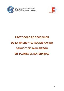 protocolo de recepción de la madre y el recien nacido sanos y de