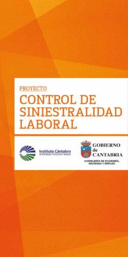 1 control de siniestralidad laBoral - Instituto Cántabro de Seguridad