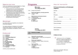 IV Curso de Iniciación a la Endoscopia Digestiva