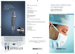 Cómo evitar complicaciones en implantología - Mozo-Grau