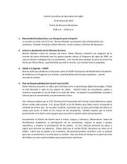 Comite Consultivo de Aprendices de Inglés 13 de Marzo de 2015
