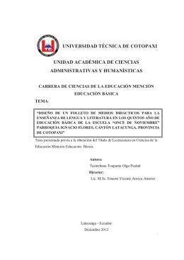universidad técnica de cotopaxi unidad académica de ciencias