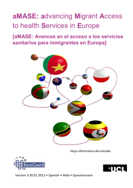 aMASE: advancing Migrant Access to health Services in Europe