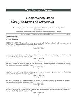 27 de Diciembre del 2006 - Gobierno del Estado de Chihuahua