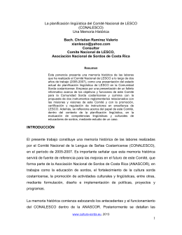 Planificacion Linguistica CONALESCO