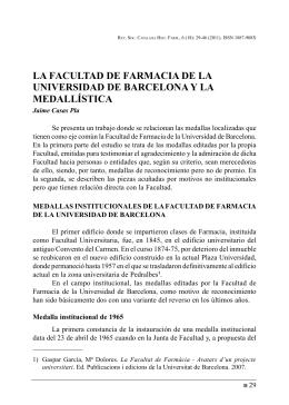 la facultad de farmacia de la universidad de barcelona y la