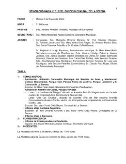 ACTA ORD Nº 515 - Municipalidad de La Serena