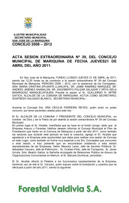 39 40 - Ilustre Municipalidad de Mariquina