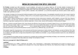 mesa de dialogo con spcc 2004-2009