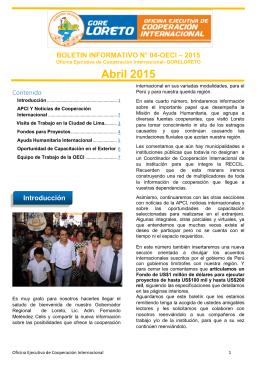boletín oeci #004 - Gobierno Regional de Loreto