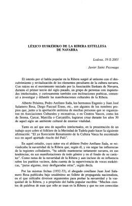 LÉXICO EUSKÉRIKO DE LA RIBERA ESTELLESA