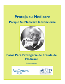Proteja su Medicare
