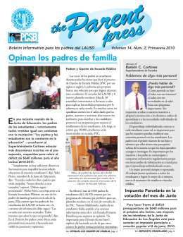 Parent Press spanish June 2007 - Los Angeles Unified School District