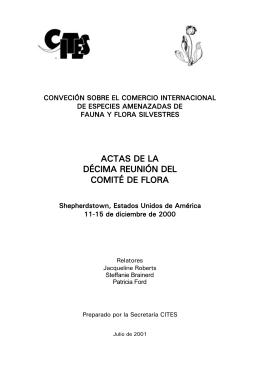 ACTAS DE LA DÉCIMA REUNIÓN DEL COMITÉ DE FLORA