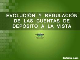 Evolución y regulación de las cuentas de depósito a la