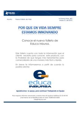 Conoce el nuevo folleto de Educa Inbursa.