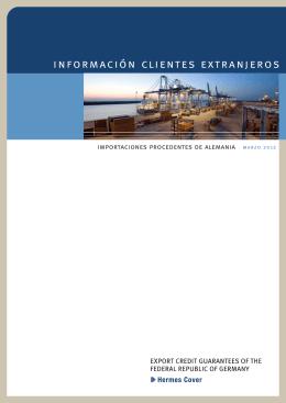 Importaciones Procedentes de Alemania, Export Credit - AGA