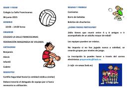 Folleto Divulgativo - FAVB – Federación Aragonesa de Voleibol
