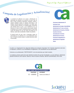 FOLLETO LEGALIZACION CA - Licencias de Software Chile Ltda.