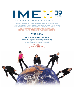 Folleto IMEX 2009